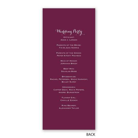 Sweet and Simple - Wedding Program