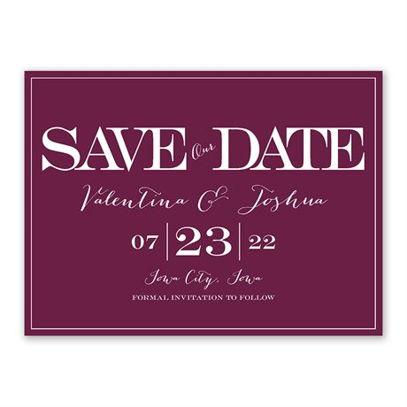 Our Big Date Save The Date