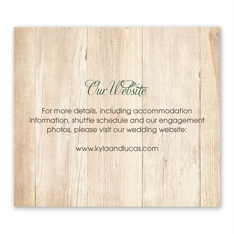 Rustic Appeal - Information Card