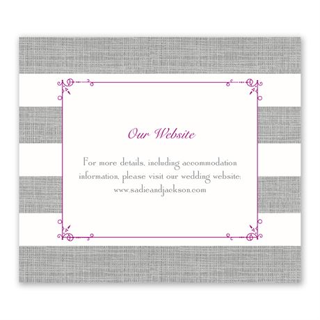 Bold Stripes - Information Card