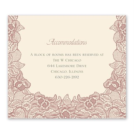 Lace Embrace - Information Card