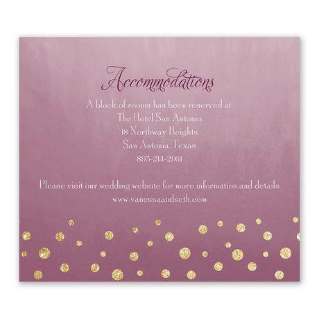 Gold Dust - Faux Glitter - Information Card