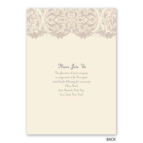Crest and Flourish - Invitation with Free Response Postcard