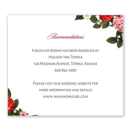 Boho Floral - Information Card