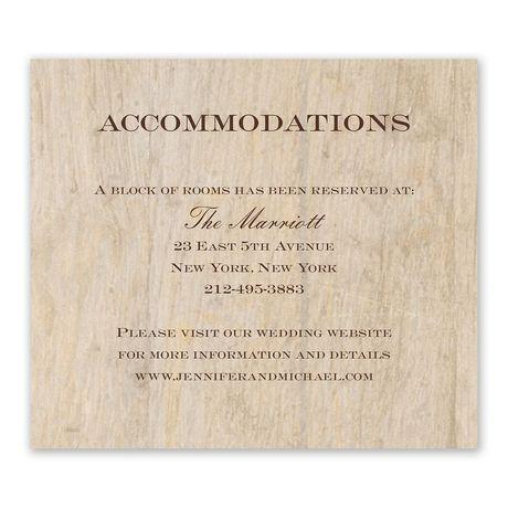 Woodgrain Beauty - Information Card
