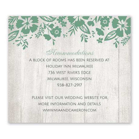 Modern Garden Information Card