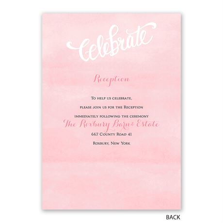 Forever And Always - Invitation with Free Response Postcard
