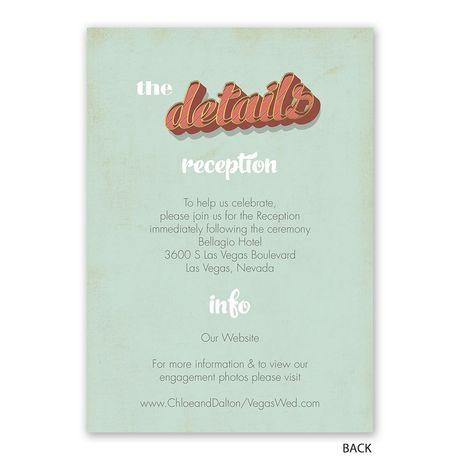 Vegas Wedding - Invitation with Free Response Postcard