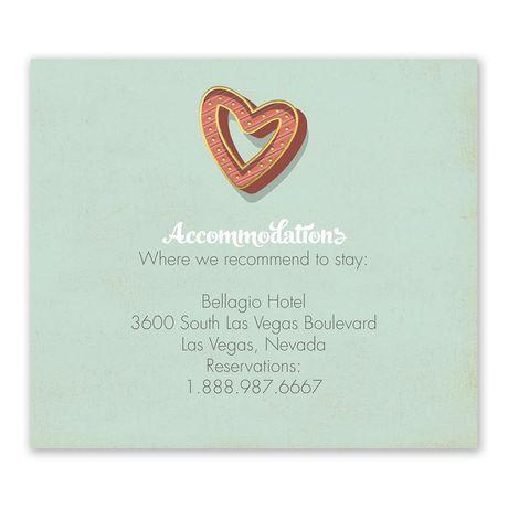 Vegas Wedding Information Card