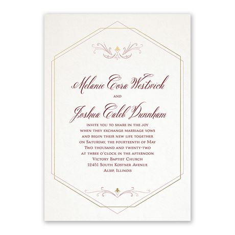 Modern Elegance Invitation with Free Response Postcard