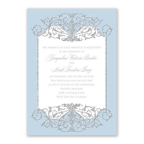 Fairy Tale Sparkle Invitation with Free Response Postcard