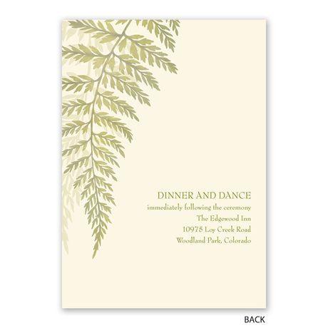Woodland Fern - Invitation with Free Response Postcard