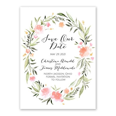 Bohemian Floral Save the Date