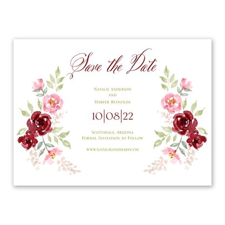 Floral Frame Save the Date