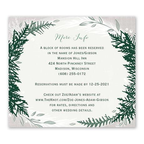 Sweet Evergreens - Information Card