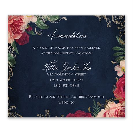 Florals and Flourishes Information Card