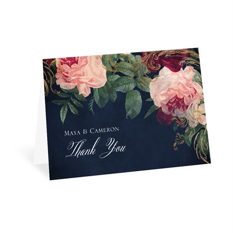 Florals and Flourishes Thank You Card