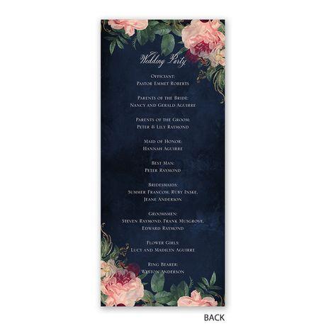 Florals and Flourishes - Wedding Program