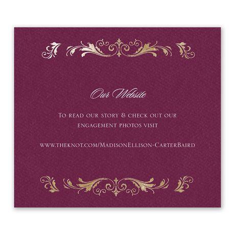 Royal Monogram - Information Card
