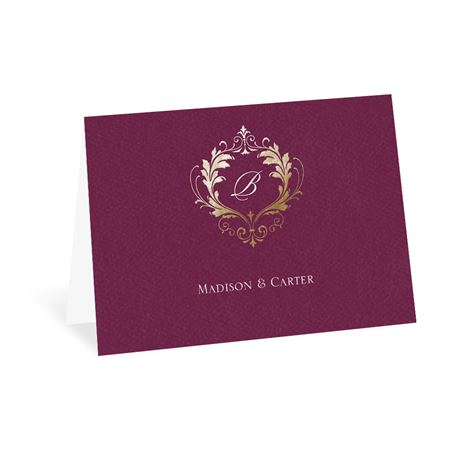 Royal Monogram - Thank You Card