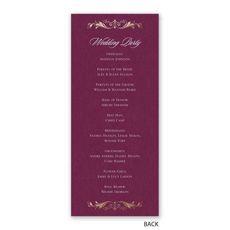 Royal Monogram - Wedding Program