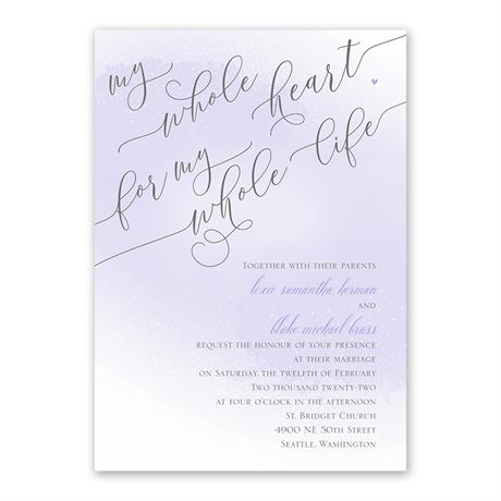 Love and Life Invitation with Free Response Postcard