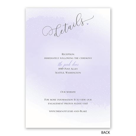 Love and Life - Invitation with Free Response Postcard