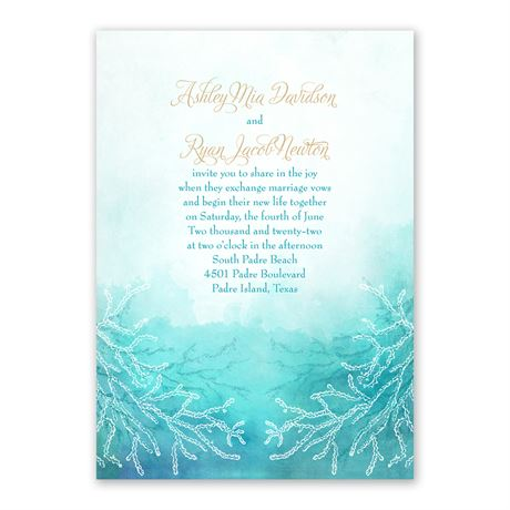 Ocean Dream - Invitation with Free Response Postcard