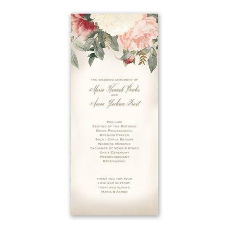 Blush Floral - Wedding Program