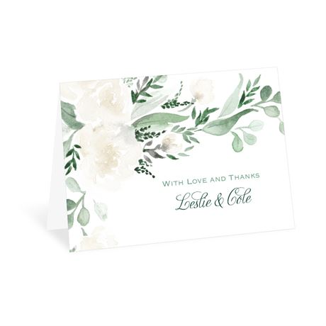 Painted Garden Thank You Card