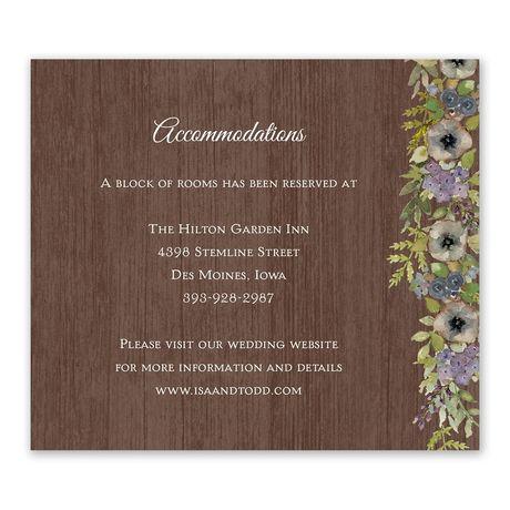 Floral Garland - Information Card