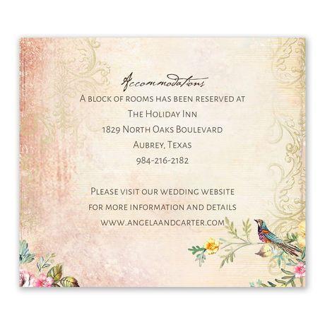 Vintage Birds  - Information Card