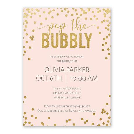 Bubbly - Bridal Shower Invitation