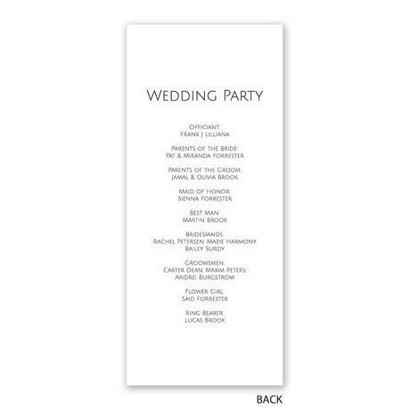 Gold Faux Foil - Wedding Program
