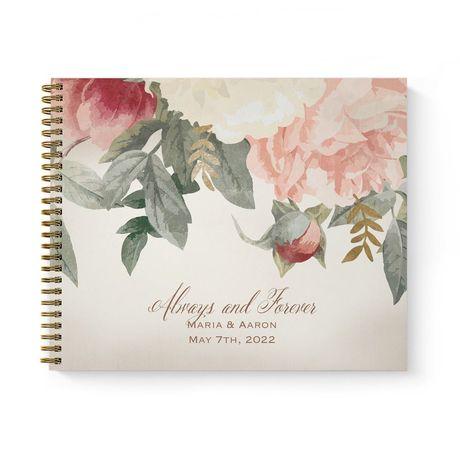 Blush Floral Guest Book