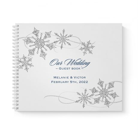 Snowflake Sparkle Guest Book