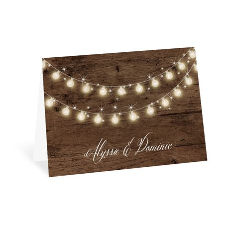Rustic Glow Thank You Card