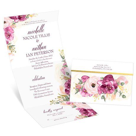 Garden Romance Seal and Send Invitation