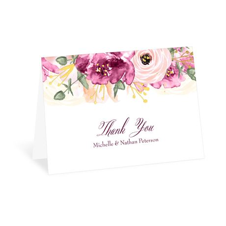 Garden Romance - Thank You Card