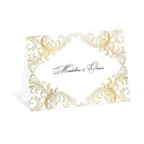 Gold Flourish - Thank You Card