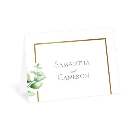 Watercolor Greenery - Thank You Card