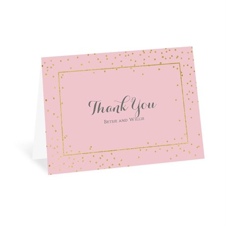 Gold Dots Thank You Card