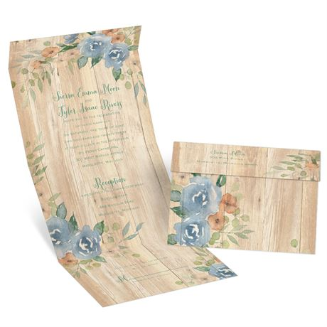 Country Blooms Seal and Send Invitation