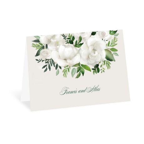 Lush Gardenias Thank You Card