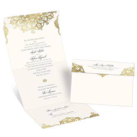 Gold Mandala - Seal and Send Invitation