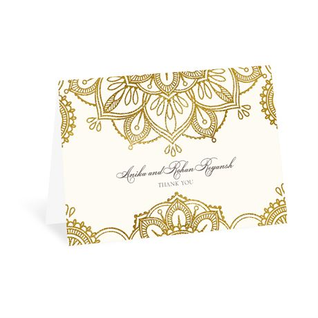Gold Mandala Thank You Card
