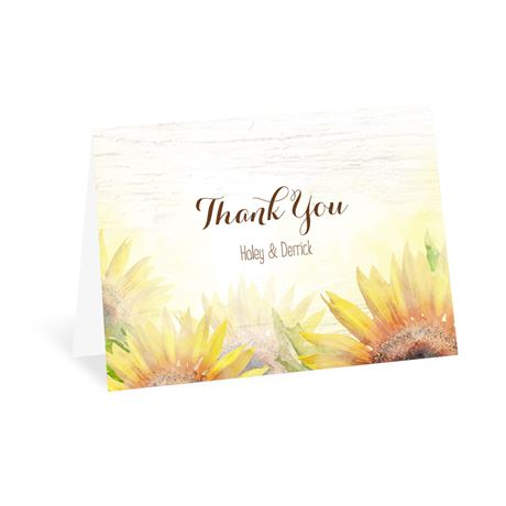 Painted Sunflowers - Thank You Card
