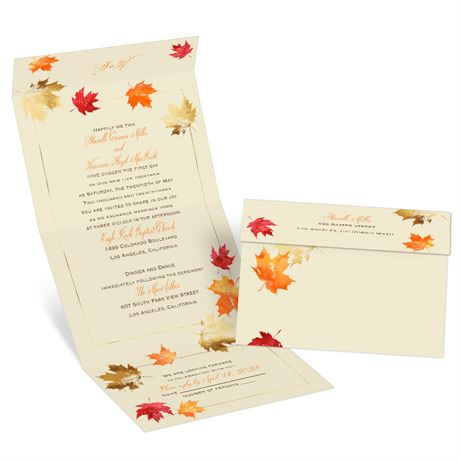 Falling Leaves - Seal and Send Invitation
