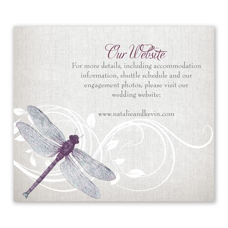 Dragonfly Pair - Information Card