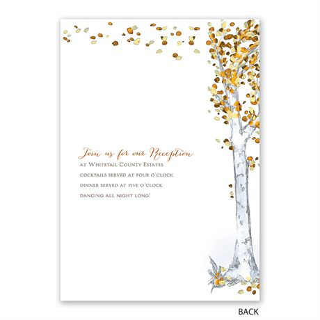 Autumn Birch - Invitation with Free Response Postcard